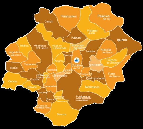 Mapa de actuación LeaderCal Asodebi