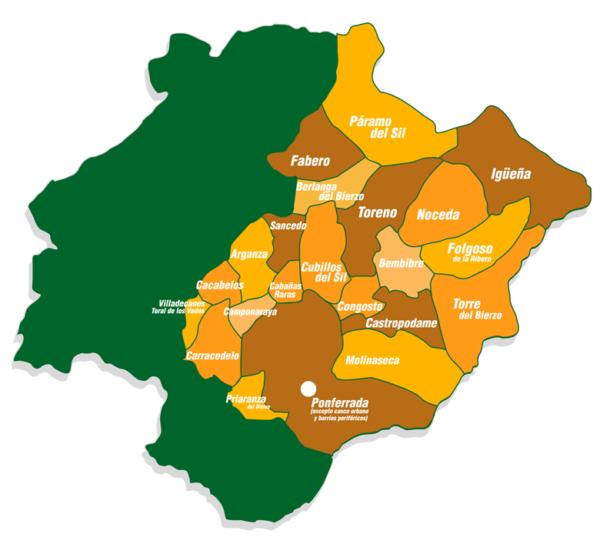 Mapa de actuación ProderCal Asodebi